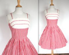 Vintage 1950's Red and White Rockabilly by TrueValueVintage, $145.00