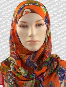 Hijab - Seychelles Fun - Orange Maxi