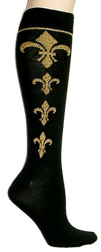 Fluer-de-lis Knee High Socks