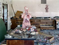 Ruins of Detroit: biology classroom at George W Ferris School