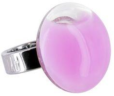 keladeco.com - #Bague mini #galet milk #bubble-gum, bague en #verre - PYLONES