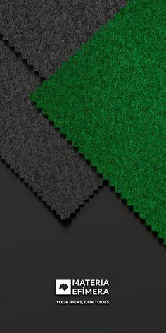 Combinación de moqueta ferial color green con marengo para stands, ferias, congresos y eventos. #Your