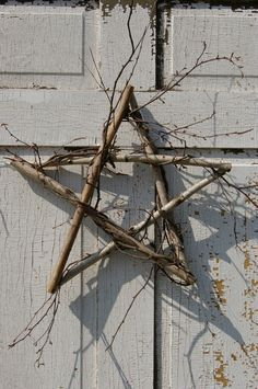Primitive+Birch+5+pointed+Star+Wreath+15++wall+art+by+TheNaturals