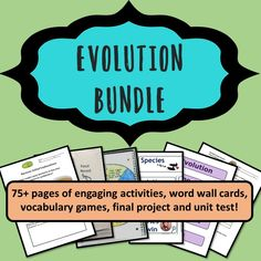 Includes 9+ days of exciting activities and assessments to incorporate authentic science as students learn about the theory of evolution by natural selection.