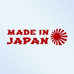 Made In Japan Rising Sun JDM Vinyl Decal Sticker by StickThemAll