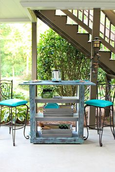 turn a bookshelf into a bar cart. love this idea!