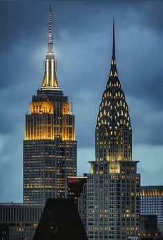 Empire State Building and Chrysler Building. New York City.-- Empire State Building and Chrysler Building. New York City. New York Drawing, Manhattan New York, Lower Manhattan, Famous Buildings, City Photography, Aerial Photography, Landscape Photography, New York Photos, Chrysler Building