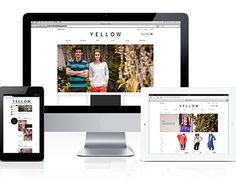 Yellow Fashion, Portfolio Website, New Work, Fashion Brand, Behance, Gallery, Creative, Check, Blog