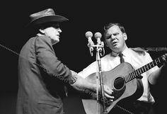 Bill Monroe & Doc Watson (c) John Bryne Cooke, 1963 Newport Folk Festival