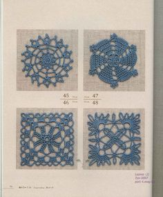 book with charts  / livro com amostras de crochê