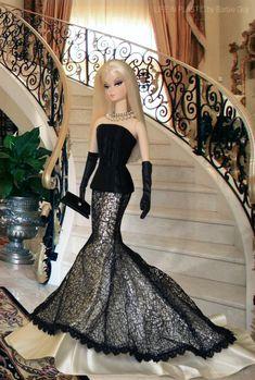 In this photo: BFMC Verushka™ Barbie® Doll wearing Society Girl™ Barbie® Doll fashion. In this photo: BFMC Verushka™ Barbie® Doll wearing Society Girl™ Barbie® Doll fashion. Barbie Gowns, Barbie Dress, Barbie Clothes, Barbies Dolls, Sewing Clothes, Barbie Mode, Barbie And Ken, Girl Barbie, Beautiful Barbie Dolls
