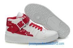 Adidas Forum Mid Kawaii White Sport Red Womens Shoes