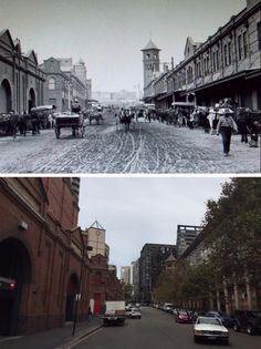 Quay St, Haymarket 1916>2015 Historic Architecture, Historical Pictures, South Wales, Sailing, Past, Life Quotes, Memories, History, City