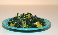 raw kale salad. My kids loved this salad.