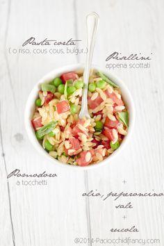 orzo salad with peas & tomatoes