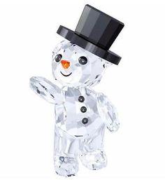 2015 Swarovski Kris Bear- Christmas, A. - This Swarovski Kris Bear features a tophat and wears a snowman outfit. Swarovski crafted this 2015 Swarovski. Christmas Figurines, Christmas Snowman, Christmas Ornaments, Christmas 2015, Swarovski Crystal Figurines, Swarovski Crystals, Swarovski Ornaments, Glass Figurines, Collectible Figurines