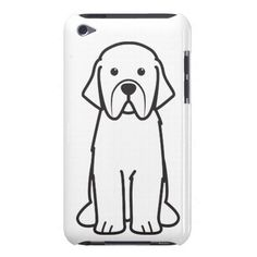 Newfoundland Dog Cartoon Barely There iPod Cover