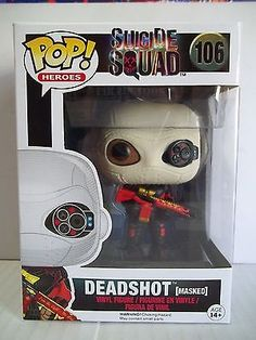 Funko POP! Heroes SUICIDE SQUAD DEADSHOT (Masked) Vinyl Figure 106 New in Box