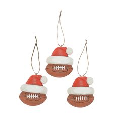 Football Ornaments - #ChristmasWishList #OrientalTrading.com