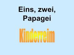▶ Eins, zwei, Papagei - Reim - YouTube