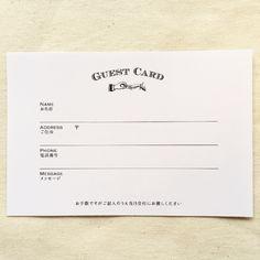 《10枚セット》ゲストカード