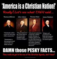 It's true. Mixing church and state is bad for EVERYONE. A lesson learned repeatedly learned over the centuries.