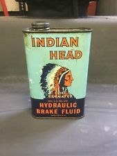 Indian Head Oil Can  Add  To Porcelain Sign Collection