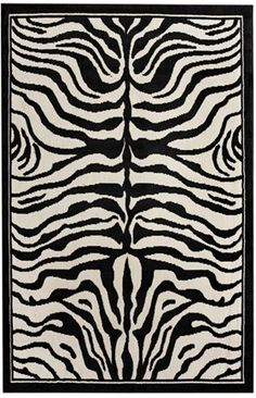 Safari Contemporary Zebra Print Rug