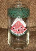 Tienshan Green Sponge Watermelon Glass Tumblers