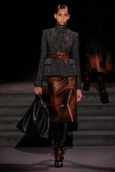THAT BELT & JACKET. IF IT HAD A MATCHING MINI I'D BE ALL ABOUT IT. Tom Ford Fall 2016 RTW.