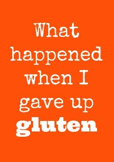 On going gluten free...