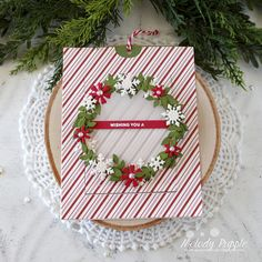I am sharing a fun die from Spellbinders that creates a slider card. I have created two cards with the Festive Wreaths Slide Card Large Die… Stampin Up Christmas, Christmas Cards, Slider Cards, Spellbinders Cards, Interactive Cards, Winter Cards, Autumn Theme, Card Tags, Sliders