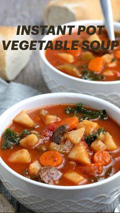 Easy Healthy Recipes, Veggie Recipes, Soup Recipes, Vegetarian Recipes, Cooking Recipes, Vegan Slow Cooker, Vegan Comfort Food, Vegan Food, Vegan Soups