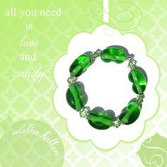 jelly bean candy bracelet by debrakallen on Etsy, $75.00
