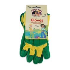 LITTLE PALS | Rigger Gloves - Green #botanex #botanexstore #gardentools #qualityproducts #outdoors Cotton Gloves, Extra Fabric, Hand Tools, Outdoors, Gardening, Activities, Green, Kids, Young Children