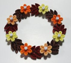 Quilled Autumn Wreath