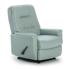 Petite Recliners Felicia Swivel Rocker Recliner with Button-Tufted Back by Vendor 411 at Becker Furniture World Modern Recliner, Swivel Recliner, Swivel Glider, Recliner Chairs, Leather Recliner, Upholstered Chairs, Chair Cushions, Leather Sofa, Brown Leather