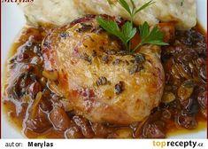 Kuře po staropražsku recept - TopRecepty.cz Turkey, Treats, Chicken, Cooking, Sweet Like Candy, Goodies, Turkey Country, Sweets, Snacks