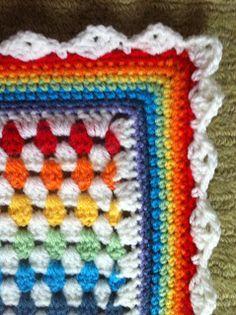 inverleith blog - rainbow granny/vintage stripe blanket