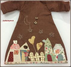 Doll Clothes Patterns, Sewing Clothes, Clothing Patterns, Diy Clothes, Clothes For Women, Applique Patterns, Quilt Patterns, Boro Stitching, Stitch Patch