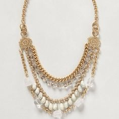 Anthropologie Cenote Layer Necklace Worn once. Anthropologie Jewelry Necklaces