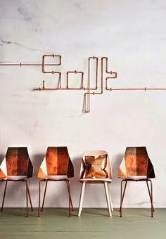 For my home / Idées déco 9 / le tuyau en cuivre