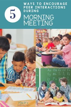 Morning meeting is a great time to give students another opportunity to practice communication & social skills. Click to read about 5 different ways to encourage students to interact and talk with each other. These tips are easy to implement and help students make progress in speech & language, attending and social skills. Click to read and get started now. Classroom Behavior, Classroom Ideas, Morning Meeting Activities, Teaching Special Education, Teacher Helper, Learning Time, Speech And Language, Social Skills, Opportunity