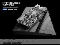 Model of work scale 1:100 Puerta de Los Carros La Alhambra de Granada