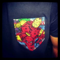 My DIY marvel comics patch pocket T-Shirt I made