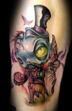 Zombie Gentleman Tattoo, so cool. Weird Tattoos, Tattoos, Sweet Tattoos, Tattoos For Guys, Badass Tattoos, Zombie Tattoos, Gentleman Tattoo, Ink, Tattoo Designs