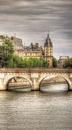 Paris, France. The Seine was where Napoleon requested to be baried in 1821. It was also symbolic of the changing city construction.