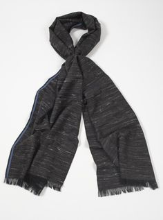 Universal Works Mens Scarf in Charcoal Yak Wool