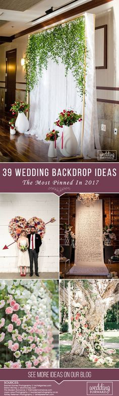 39 Most Pinned Wedding Backdrop Ideas 2017 ? See more: http://www.weddingforward.com/wedding-backdrop-ideas/ #weddings #decorations