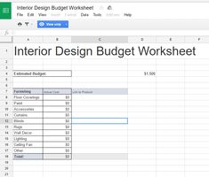 Planning to buy a house spreadsheet house hunting and - Interior design schedule template ...